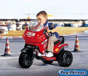 Motocicleta electrica cu 3 roti pentru copii cu varsta peste 2 ani.