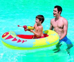 Barca gonflabila pentru copii cu pistol de apa Bestway