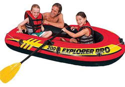 Barca gonflabila cu vasle Intex Explorer Pro