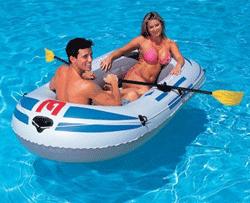 Barca gonflabila Shark prezinta valve pentru umflare-dezumflare rapida.