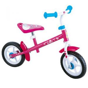 Bicicleta fara pedale Barbie Runner este recomandata fetitelor cu varsta intre 2 si 4 ani.