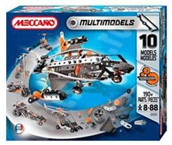 Set joc de constructie Meccano. Se pot crea 10 modele diferite de masini