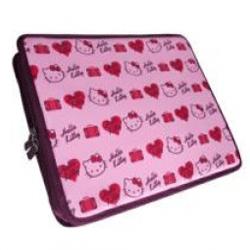 Husa laptop Hello Kitty culoare roz