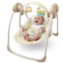 InGenuity Portable Swing combina tehnologia inovativa TrueSpeed care mentine vitezele de leganare a bebelusului, chiar si pe masura ce acesta creste si devine mai greu