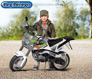 Motocicleta pentru copii Peg Perego Desert Tenere este recomanda copiilor cu varsta peste 3 ani.