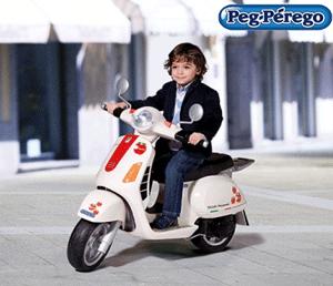 Scooter electric pentru copii Vespa