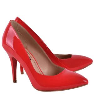 Pantofi Stiletto din piele naturala Dorothy culoare rosie