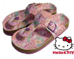 Slapi si papuci de plaja originali Hello Kitty Sanrio