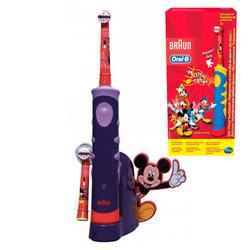 Periuta electrica Oral B D10-513 Mickey Mouse, o periuta pentru copii in culori vii si personaje Disney pe ambalaj