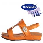 Sandale portocalii Dr.Scholl Malimasandal