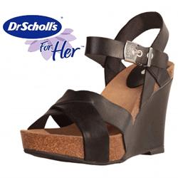 Sandale negre Dr.Scholl Atiris
