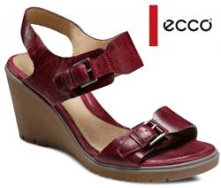 Sandale de dama din piele - casual culoare bordo Adora ECCO