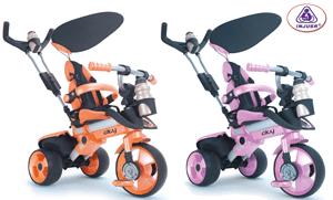 Tricicleta cu un design unic 4 in 1 Injusa City - The next step trike este proiectata pentru a fi utilizata de copiii incepand cu varsta de 6 luni pana la aproximativ 3 ani