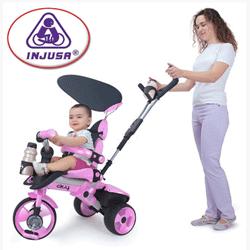 Tricicleta copii 4 in 1 Injusa City pentru bebe 6 luni si pana la copii de 3 ani