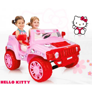 Masinuta electrica 2 locuri Injusa Hello Kitty 12V