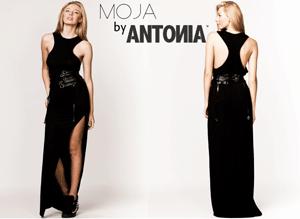 Rochie neagra lunga Moja by Antonia