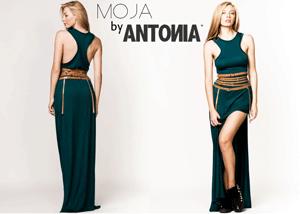 Rochie verde Moja by Antonia cu spate decupat