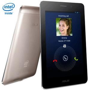 "Asus Fonepad : Tableta cu functii de telefon, ecran IPS de 7"" si finisaj metalic elegant."