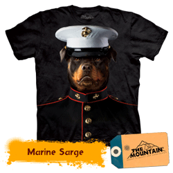 Tricou 3D The Mountain Sarge Dog