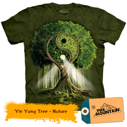 Tricou tridimensional Yin Yang Tree Nature