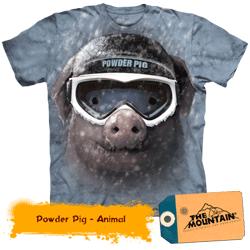 Tricou 3D Porc Powder Pig