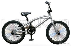 Bicicleta BMX Freestyle este confectionata din aluminiu