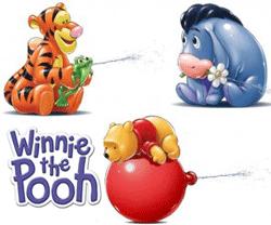 Jucarii de baie Winnie the Pooh