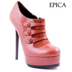 Pantof Epica Cognaq piele naturala