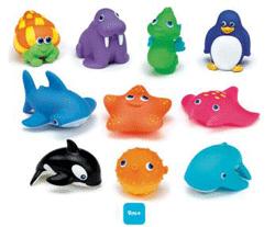 Set jucarii de baie din plastic