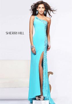 Rochie eleganta de seara Sherri Hill 21160 Aqua