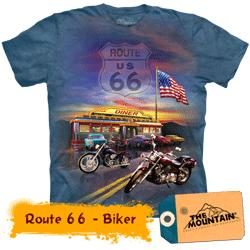 Tricou tridimensional The Mountain Route 66 Biker