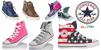 Converse pentru copiii mici, baietei si fetite: bascheti, tenisi si pantofi.