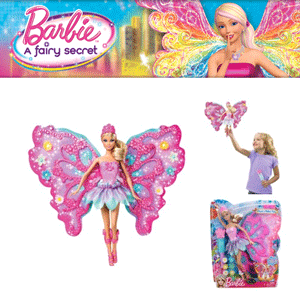 Papusa Barbie cu aripi - Zana Florilor