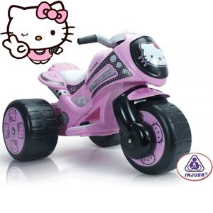 Injusa – Tricicleta Electrica Tribike Hello Kitty 6V fetite 2-5 ani