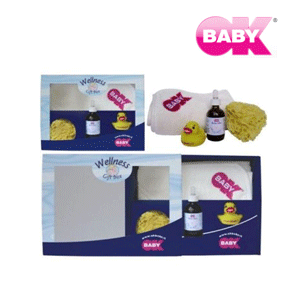 Set cadou produse baie OK Baby pentru bebelusi