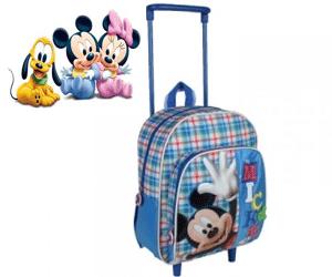 Ghiozdan cu troler pentru gradinita Mickey Mouse