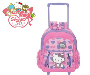 Ghiozdan cu rotile Hello Kitty Sanrio