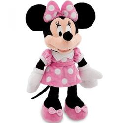 Minnie Povestitoarea si mai multe jucarii mascote de plus cu Minnie Mouse