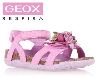 Sandale fete Geox Aloha roz