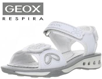 Sandale fete Geox Jocker albe