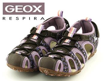 Sandale maron piele naturala GEOX pentru fetite