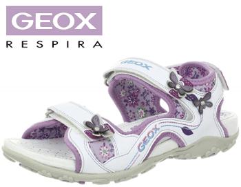 Sandale fete Geox Roxanne albe