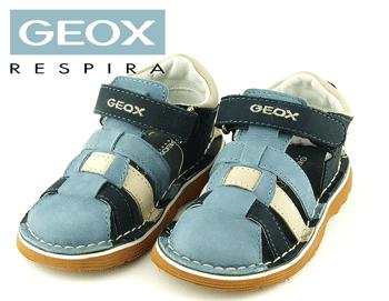 Sandale inchise Geox din piele naturala bleumarin baieti