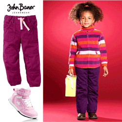 Pantaloni termo izolanti pentru fetite
