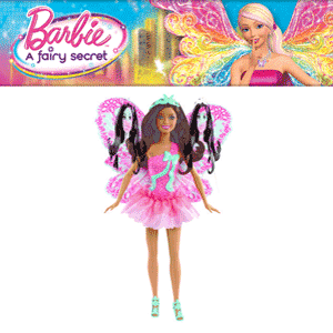 Papusa Barbie Zana cu aripi de fluture