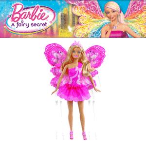 Papusa Zana Barbie cu parul blond si aripi