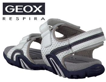 Sandale baieti Geox Safari Alb