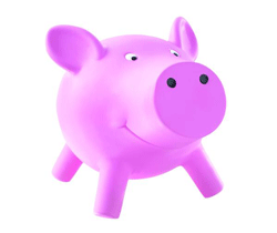 Pusculita Porcosur roz pentru copii