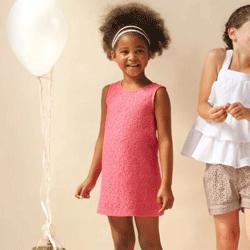 Rochie roz din dantela pentru fetite