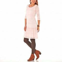 Rochie rock glamour cu dantela ideale pentru cizme sau ghete inalte